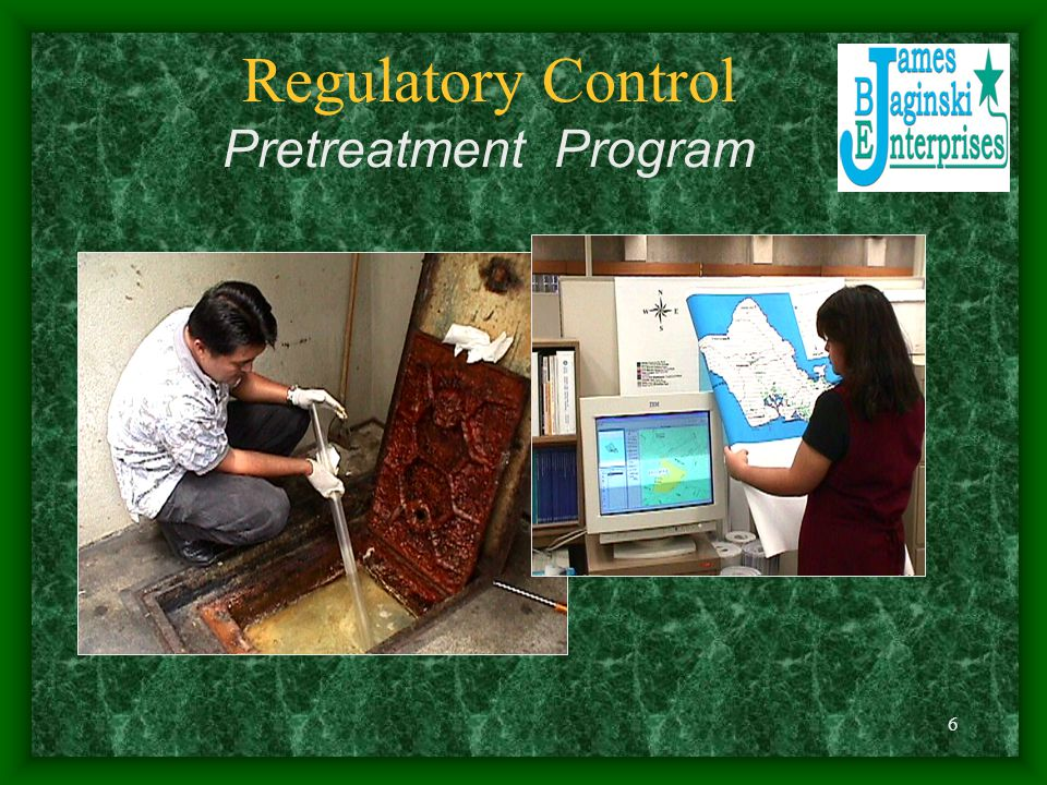 Regulatory Control Pretreatment Program