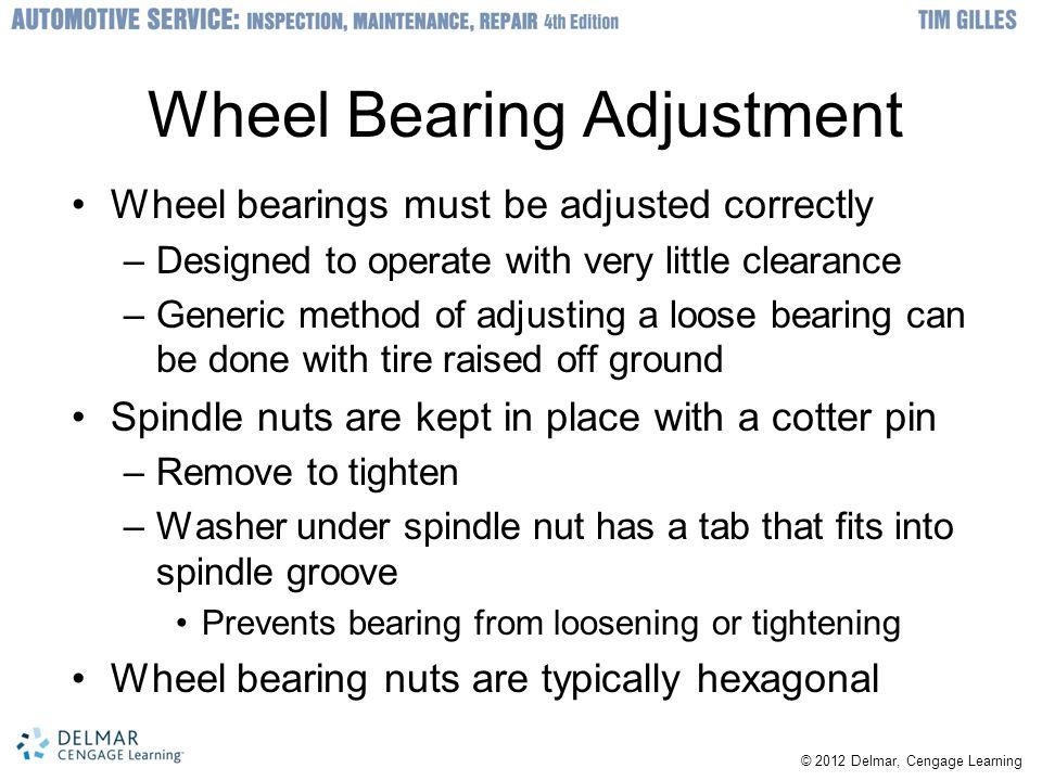 Wheel Bearing Adjustment