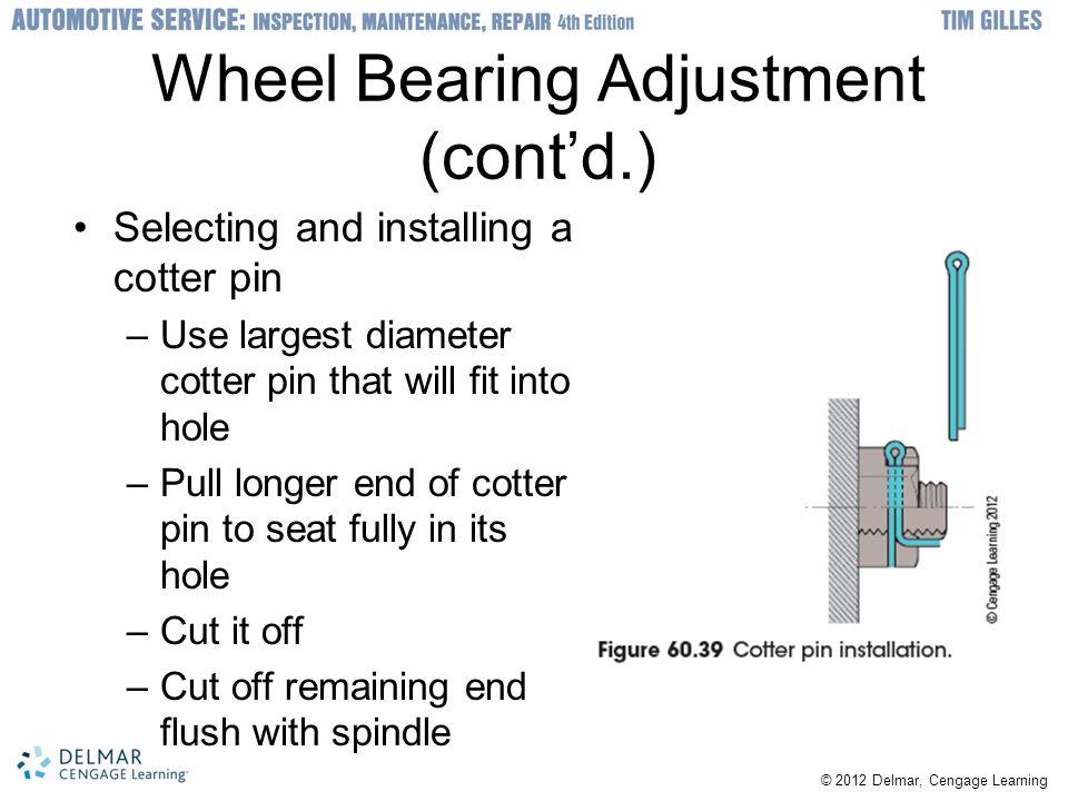 Wheel Bearing Adjustment (cont'd.)