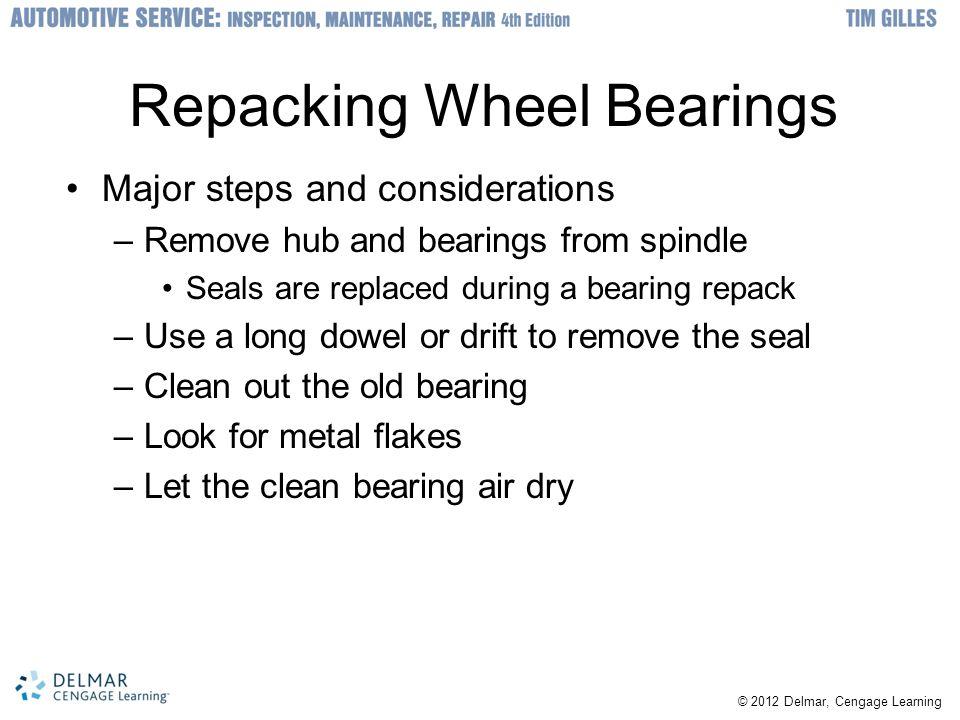 Repacking Wheel Bearings
