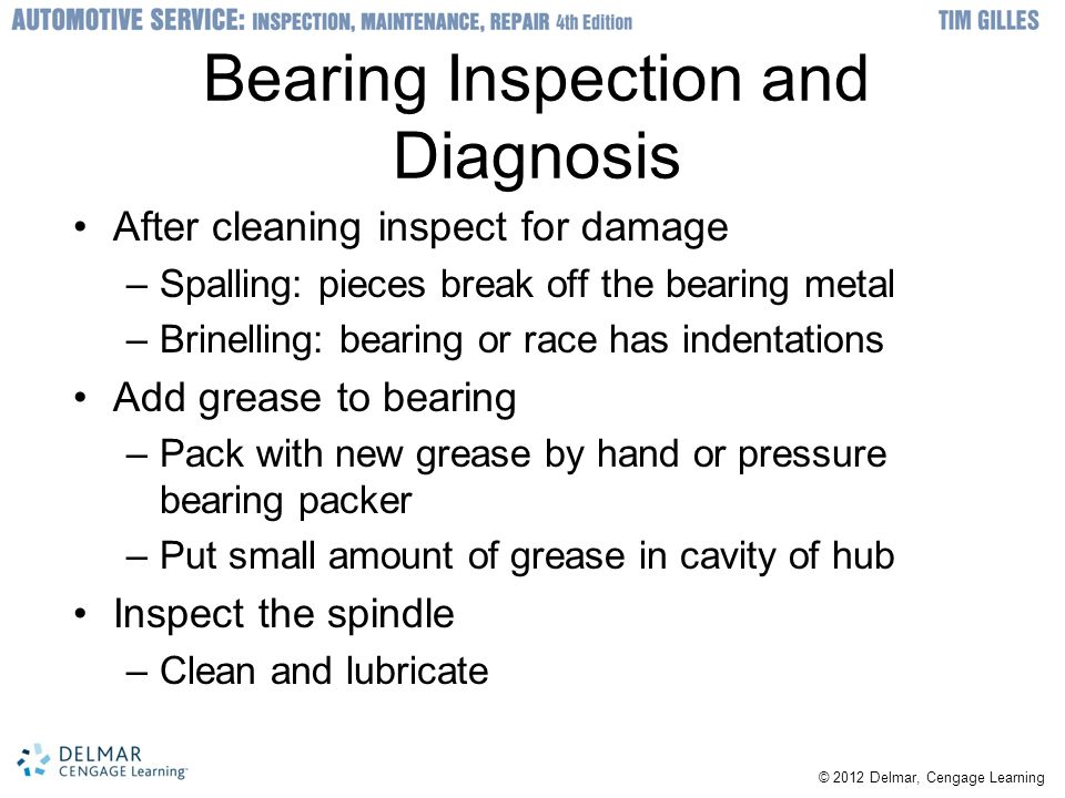 Bearing Inspection and Diagnosis