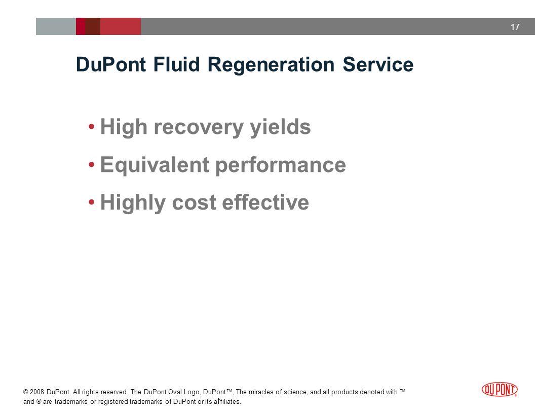 DuPont Fluid Regeneration Service