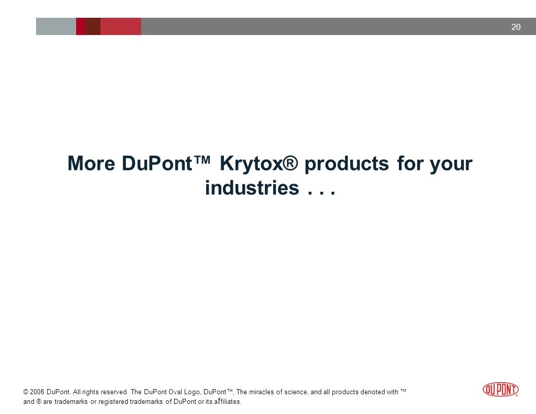 More DuPont™ Krytox® products for your industries . . .