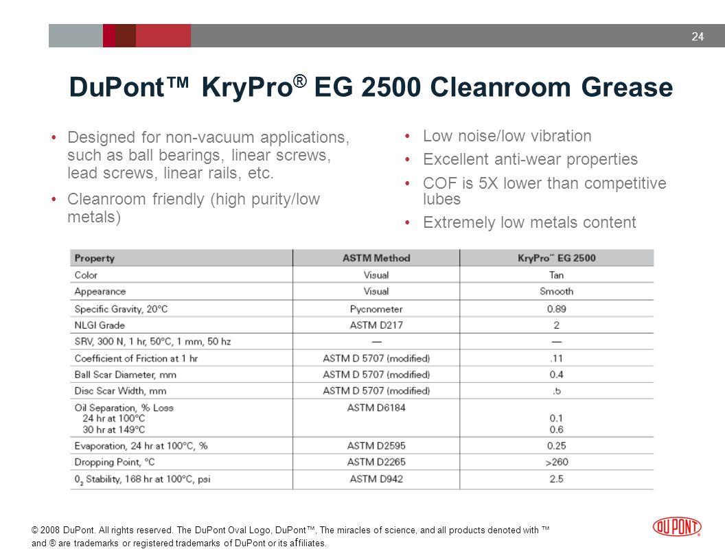 DuPont™ KryPro® EG 2500 Cleanroom Grease