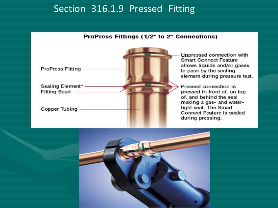 Section 316.1.9 Pressed Fitting