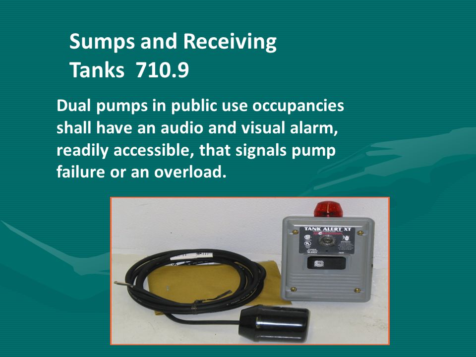 Sumps and Receiving Tanks 710.9