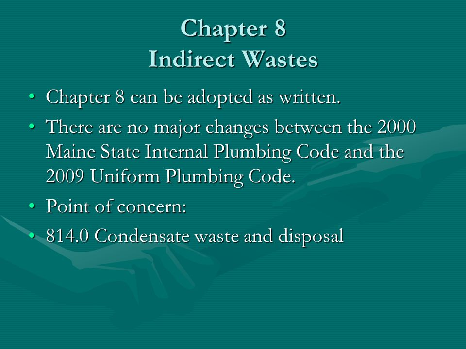 Chapter 8 Indirect Wastes