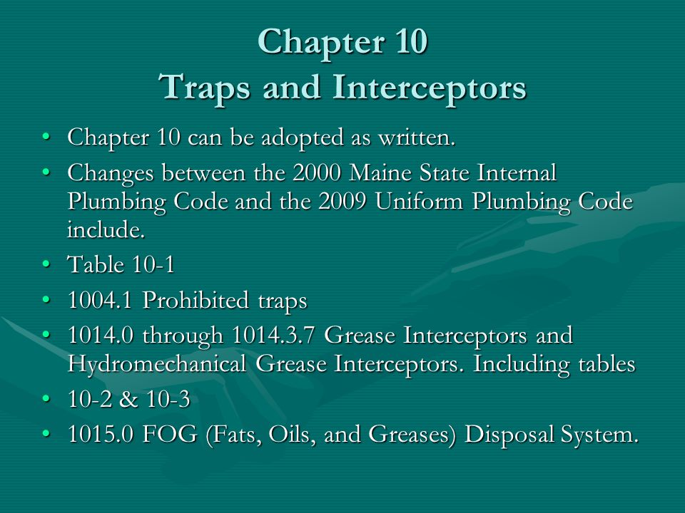 Chapter 10 Traps and Interceptors