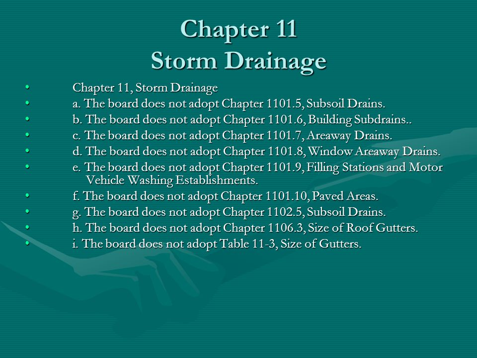 Chapter 11 Storm Drainage