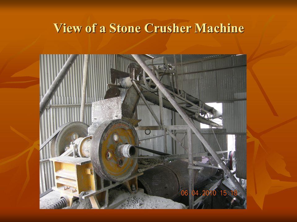 View of a Stone Crusher Machine