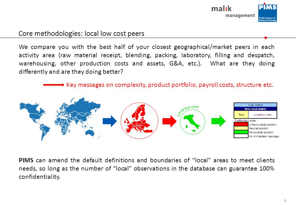 Core methodologies: local low cost peers