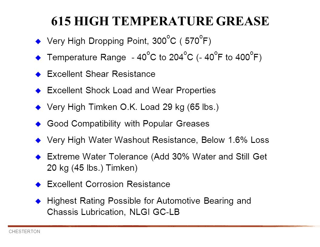 615 HIGH TEMPERATURE GREASE