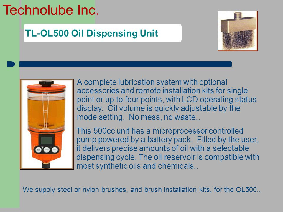 TL-OL500 Oil Dispensing Unit