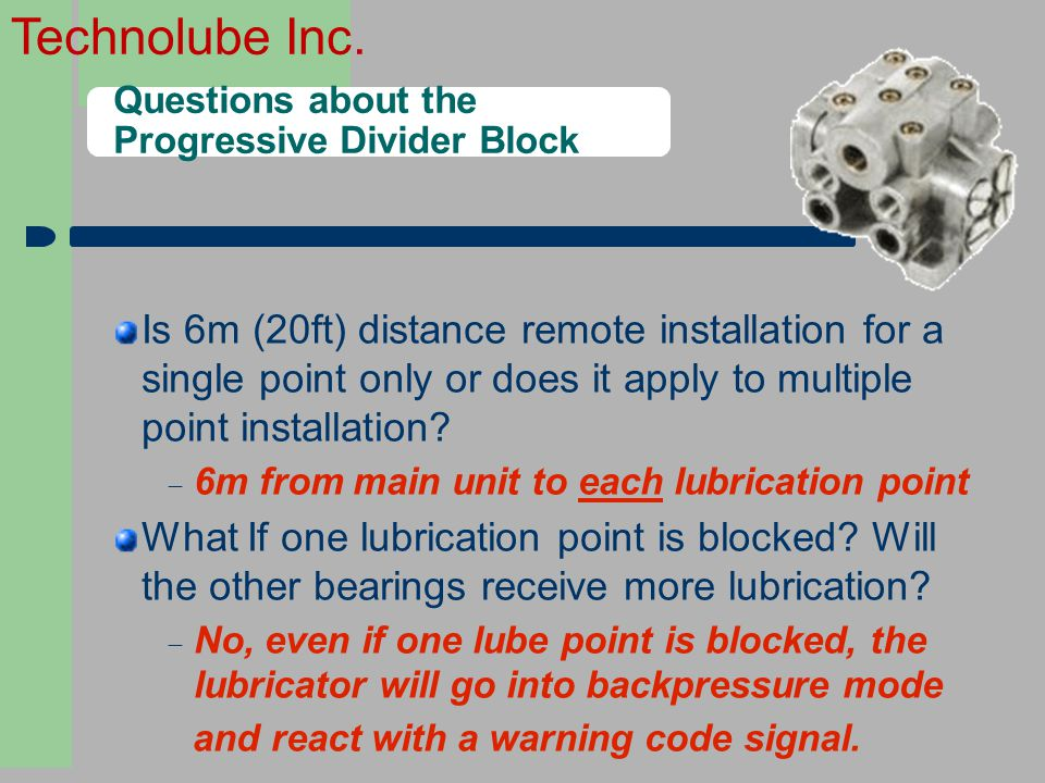 2828 Questions about the Progressive Divider Block.