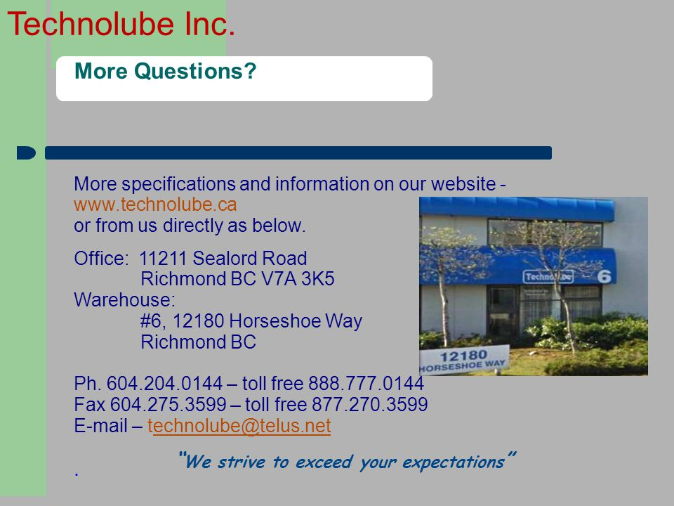 3131 More Questions . We strive to exceed your expectations