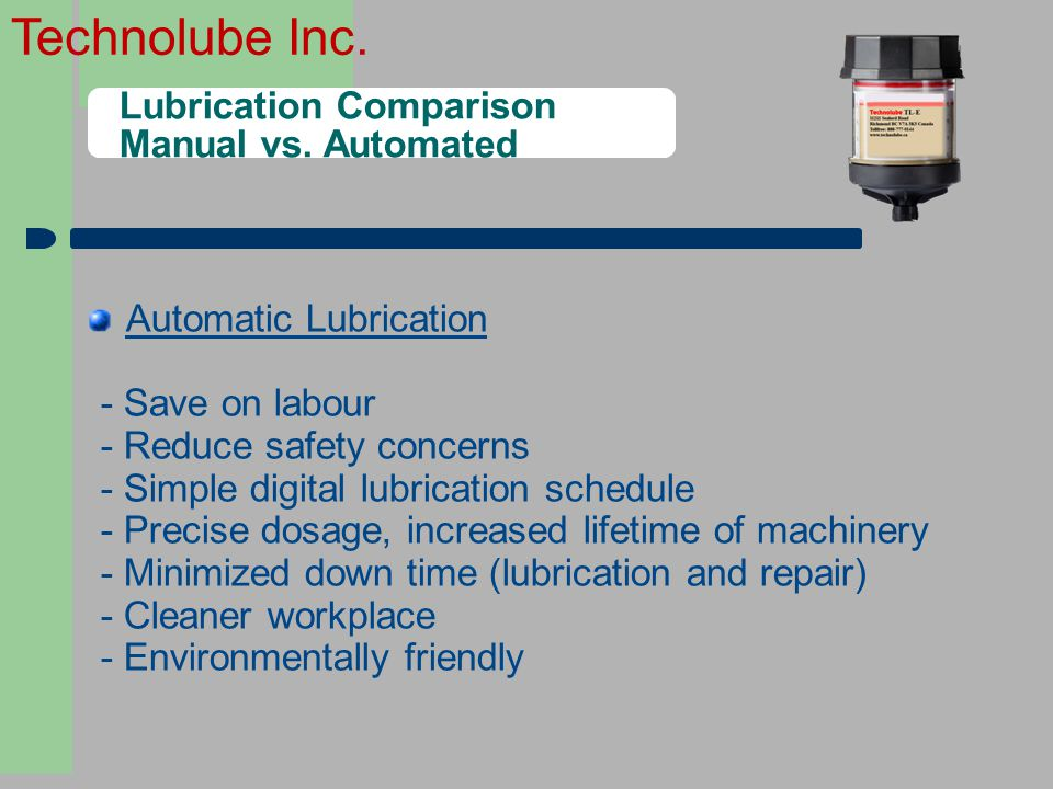 Lubrication Comparison Manual vs. Automated