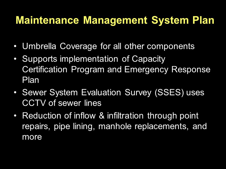 Maintenance Management System Plan