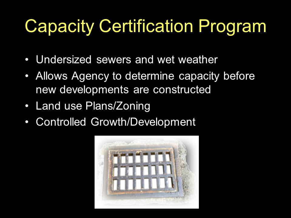 Capacity Certification Program
