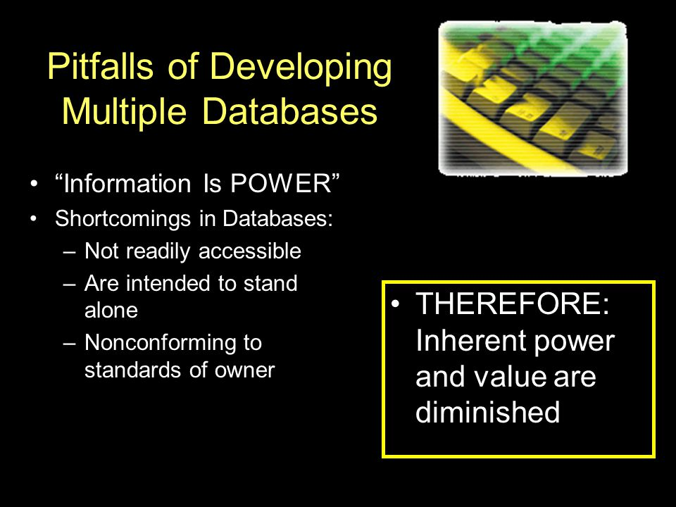 Pitfalls of Developing Multiple Databases