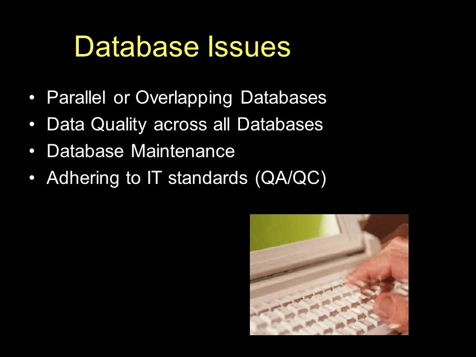 Database Issues Parallel or Overlapping Databases