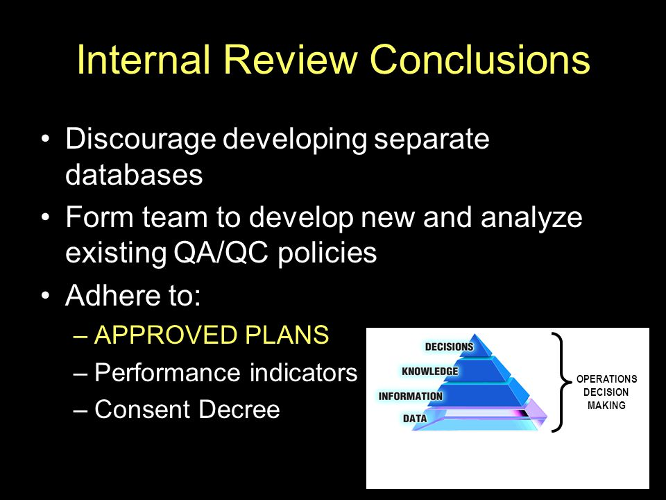 Internal Review Conclusions