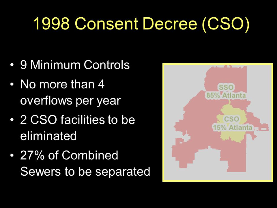 1998 Consent Decree (CSO) 9 Minimum Controls