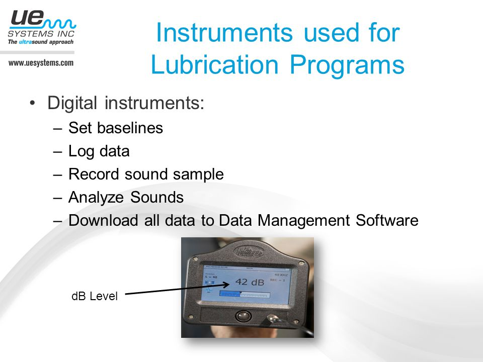 Instruments used for Lubrication Programs