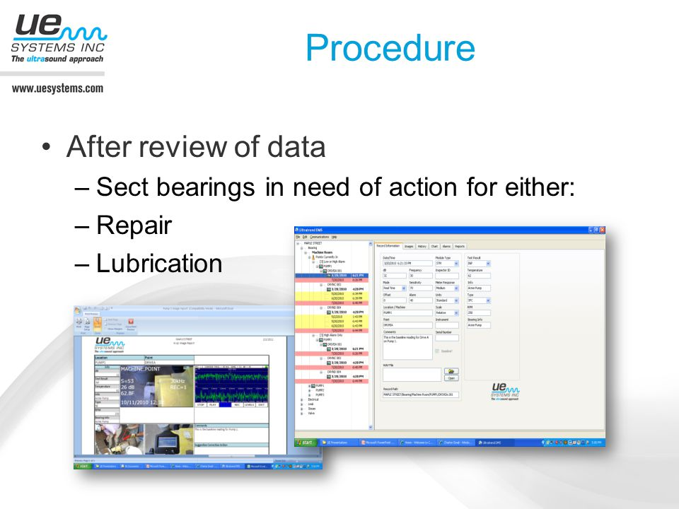 Procedure After review of data