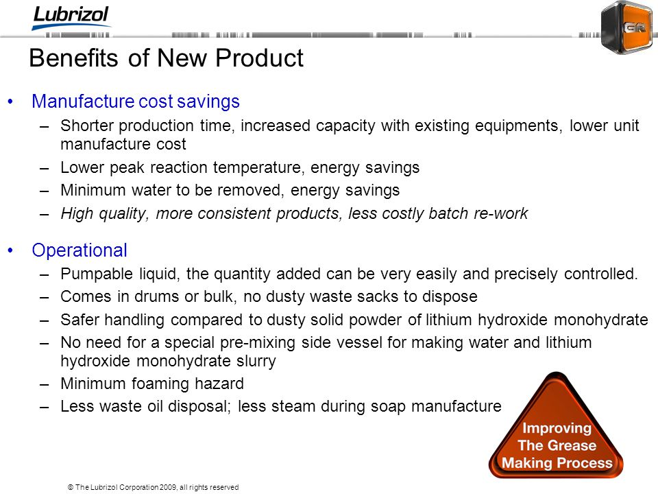 Benefits of New Product