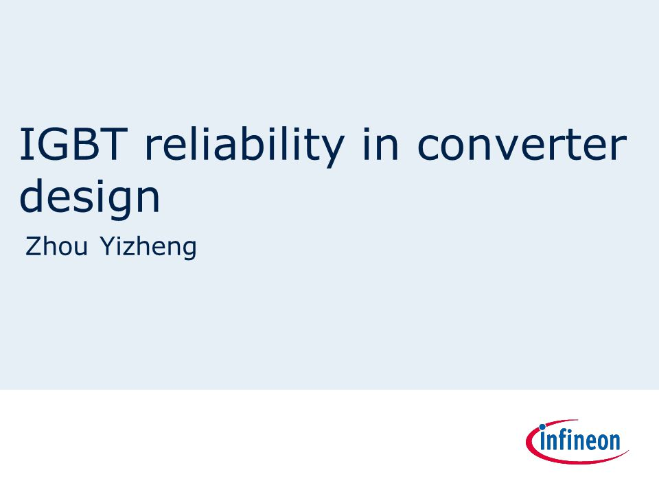 IGBT reliability in converter design