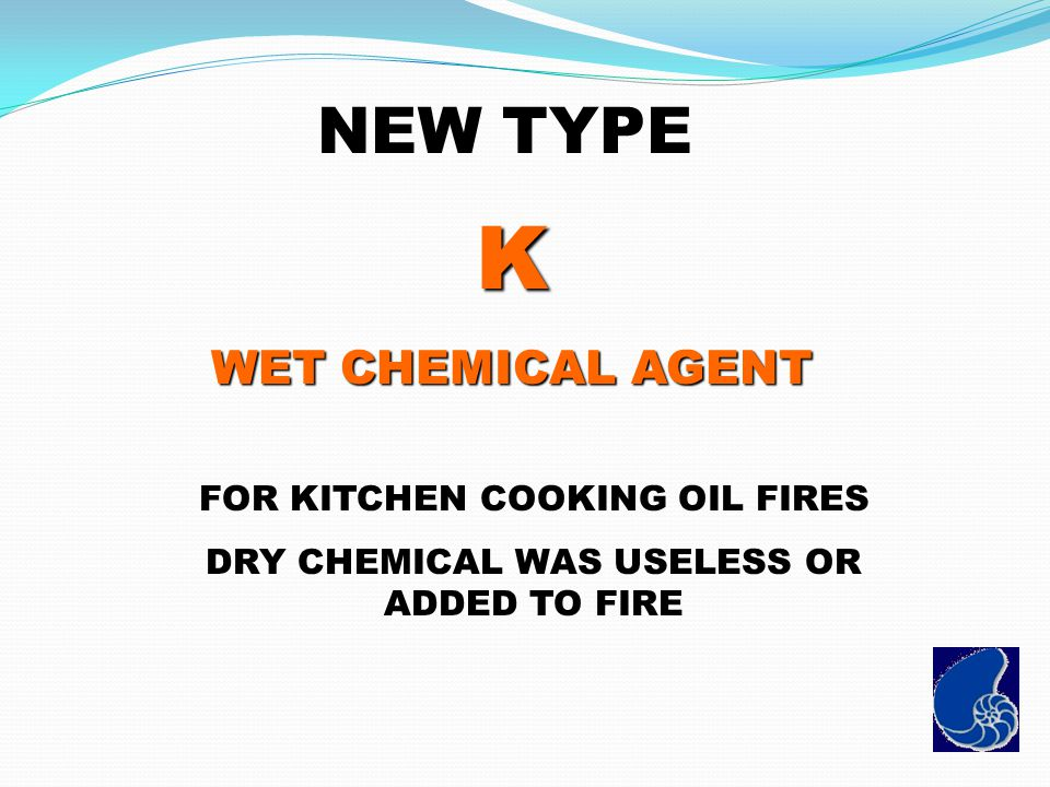 K NEW TYPE WET CHEMICAL AGENT FOR KITCHEN COOKING OIL FIRES