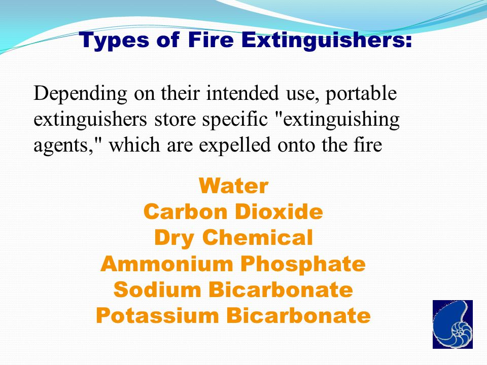 Types of Fire Extinguishers: