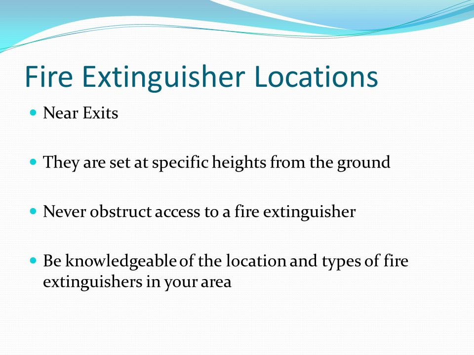 Fire Extinguisher Locations