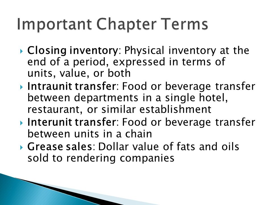 Important Chapter Terms