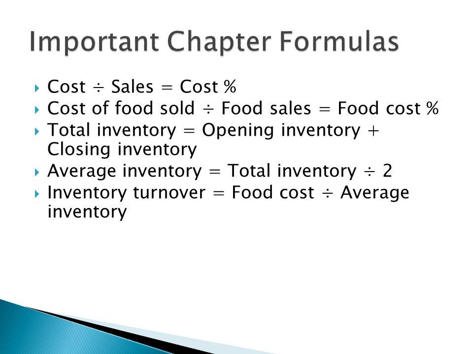 Important Chapter Formulas