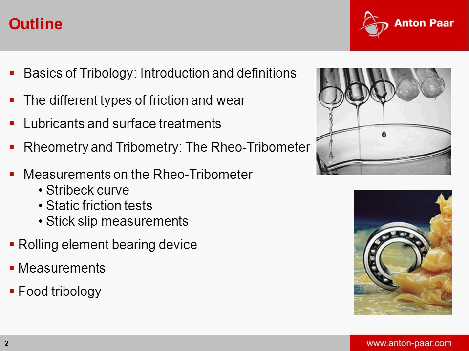 Outline Basics of Tribology: Introduction and definitions