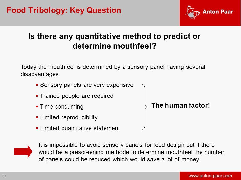 Food Tribology: Key Question