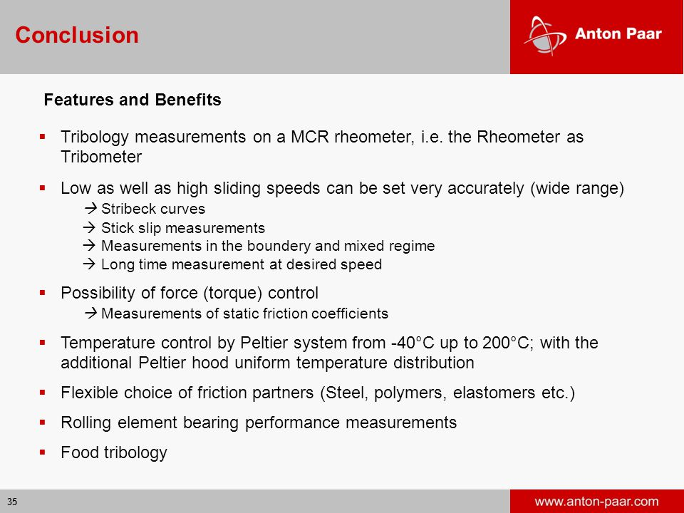 Conclusion Features and Benefits