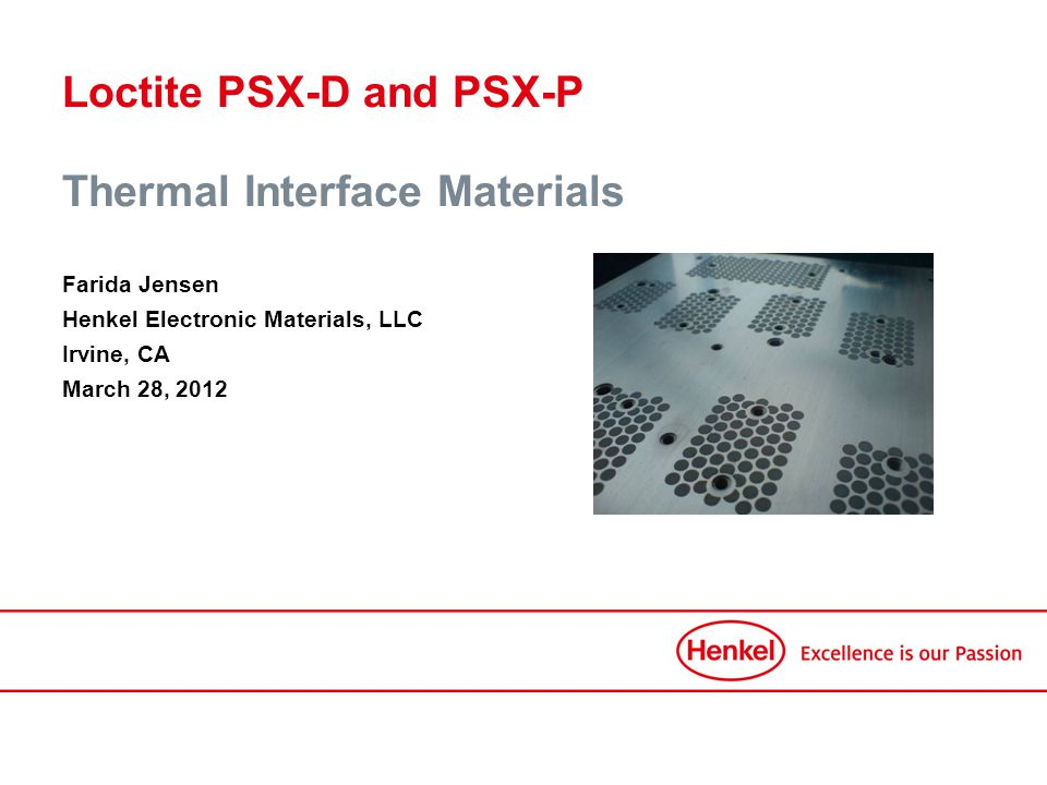 Loctite PSX-D and PSX-P Thermal Interface Materials