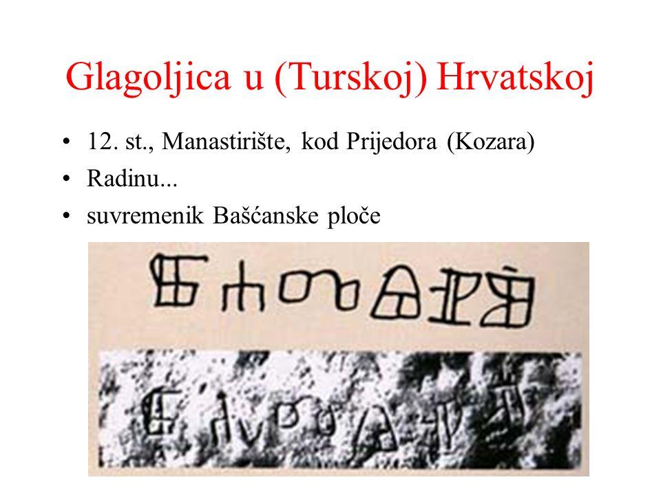 Glagoljica u (Turskoj) Hrvatskoj