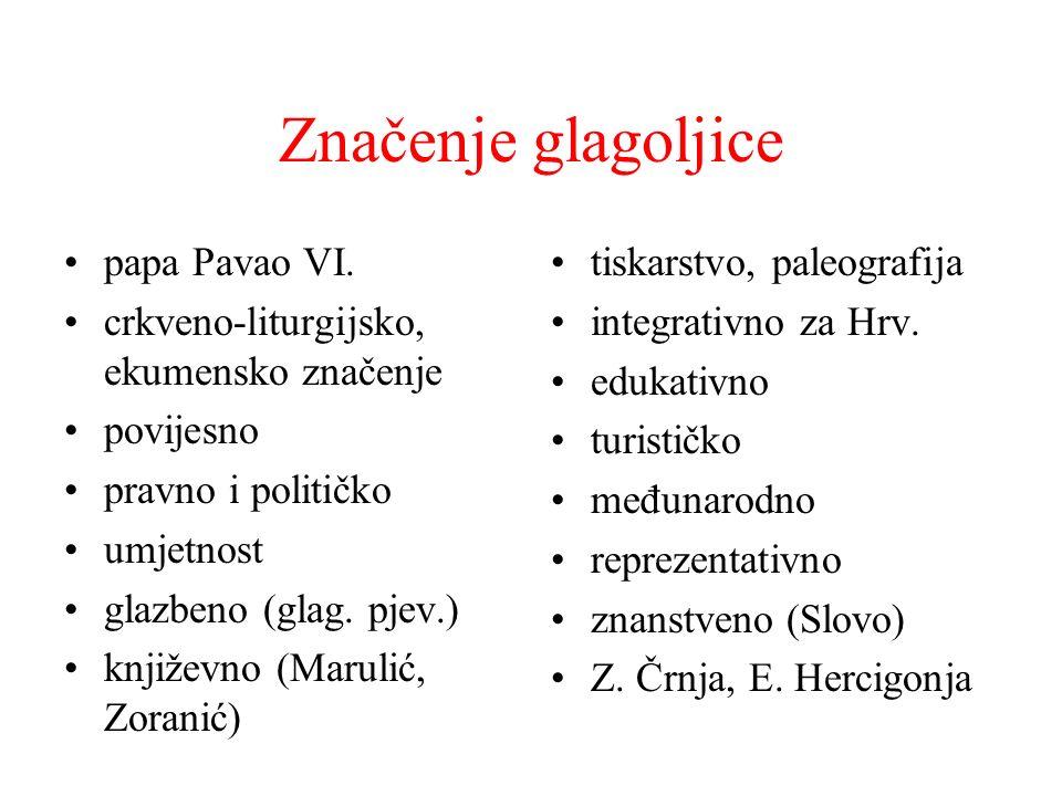 Značenje glagoljice papa Pavao VI.