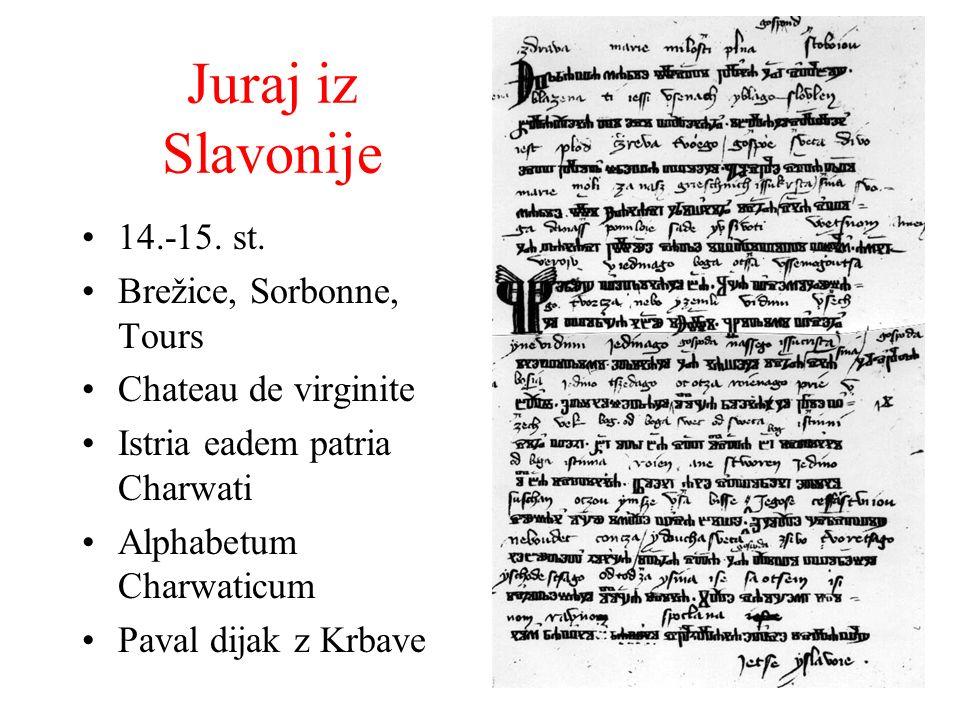 Juraj iz Slavonije 14.-15. st. Brežice, Sorbonne, Tours