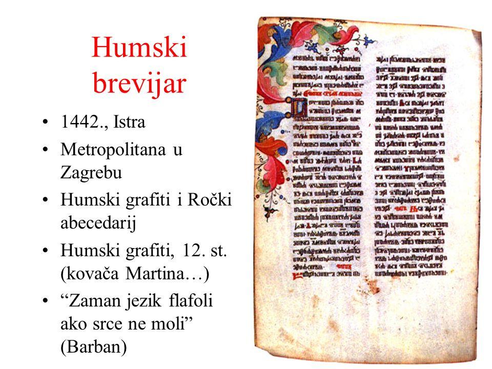 Humski brevijar 1442., Istra Metropolitana u Zagrebu
