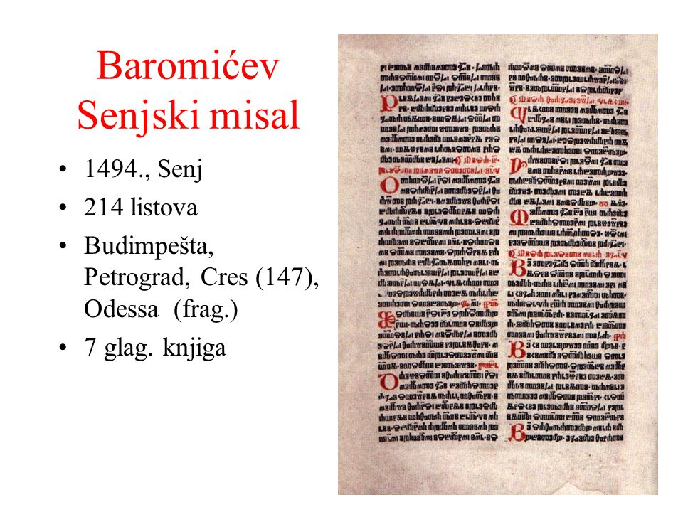 Baromićev Senjski misal