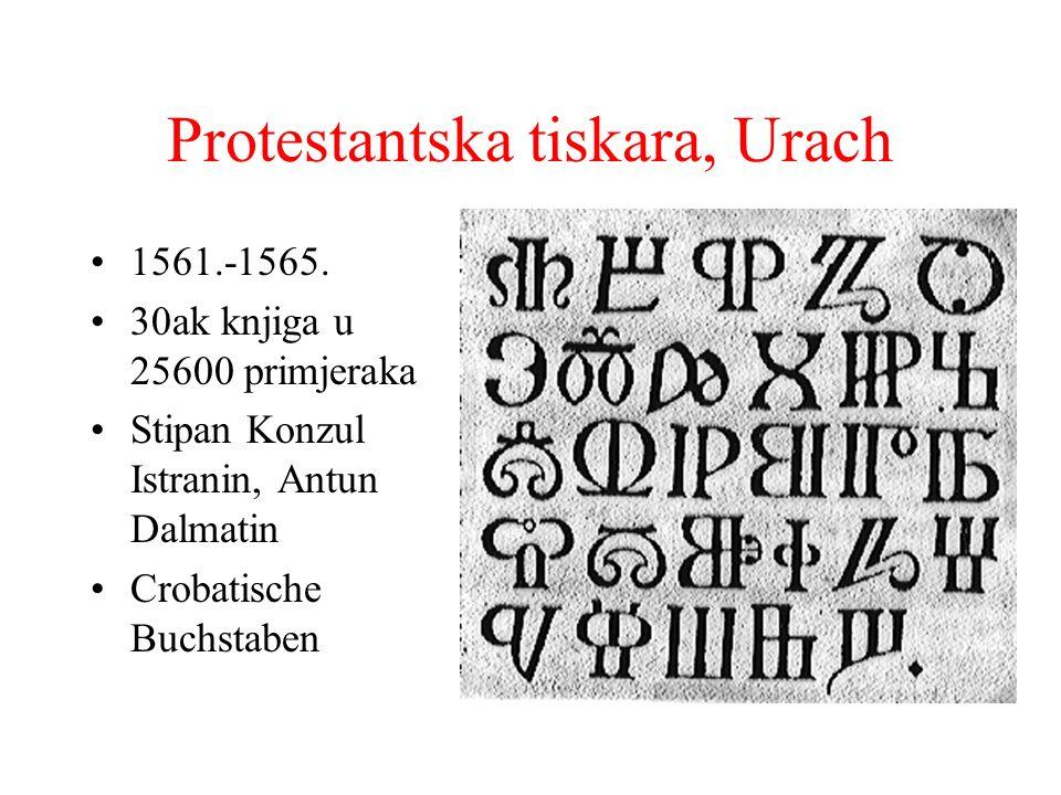 Protestantska tiskara, Urach