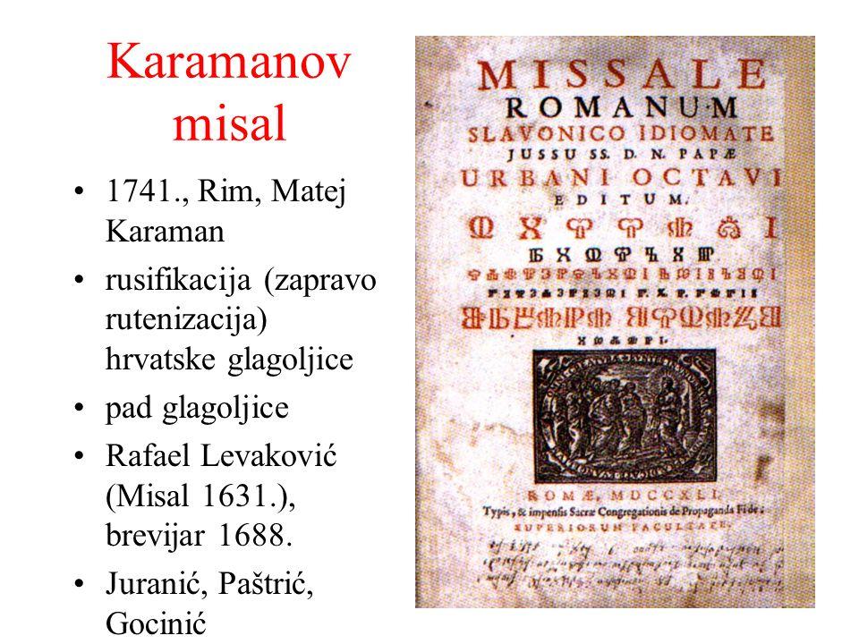 Karamanov misal 1741., Rim, Matej Karaman