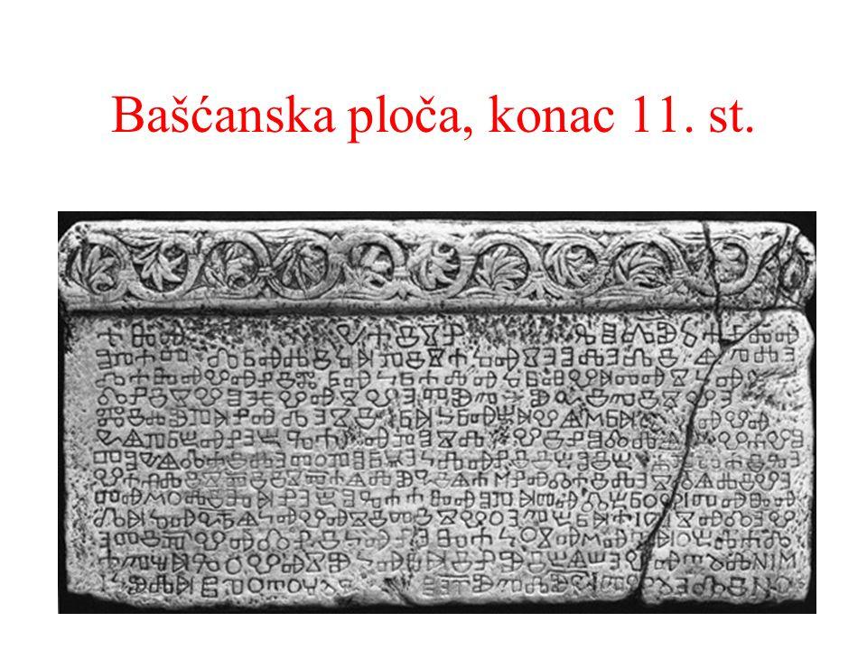 Bašćanska ploča, konac 11. st.