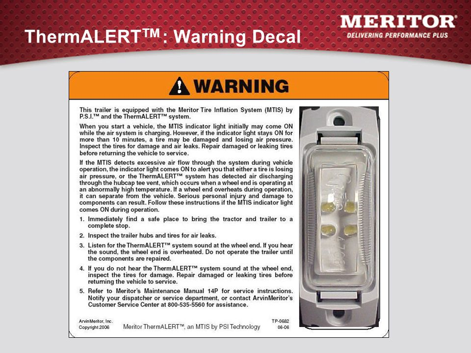 ThermALERTTM : Warning Decal