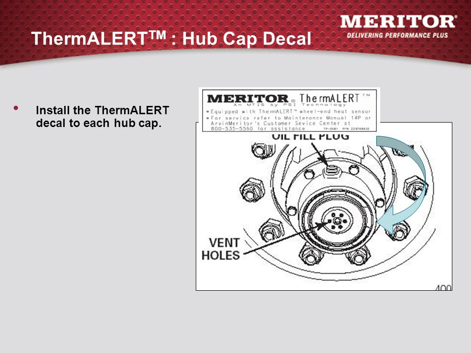 ThermALERTTM : Hub Cap Decal