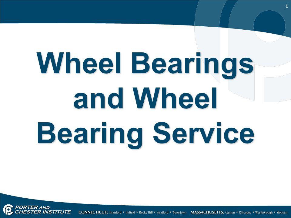 Wheel Bearings and Wheel Bearing Service